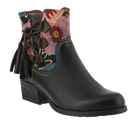 Spring Step L'Artiste Leather Booties - Live