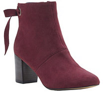 Sole Society Back-tie Leather Ankle Boots - Roxbury - A362138