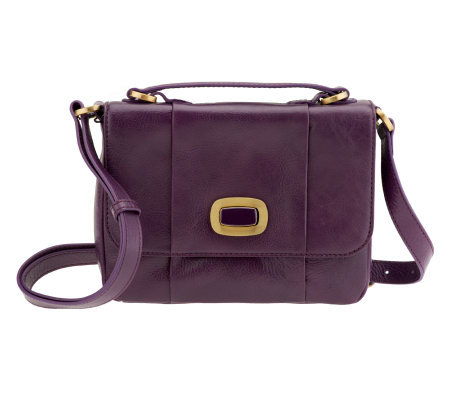 Hobo Florence Leather Simona Top Handle Crossbody Bag with Turnlock