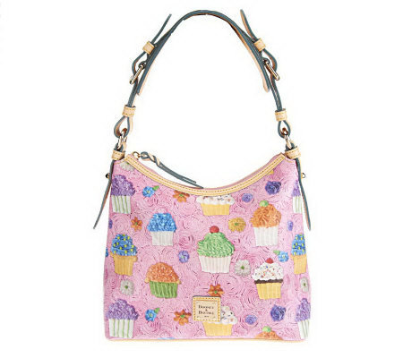 Dooney & Bourke Coated Cotton Cupcake Print Lucy Bag