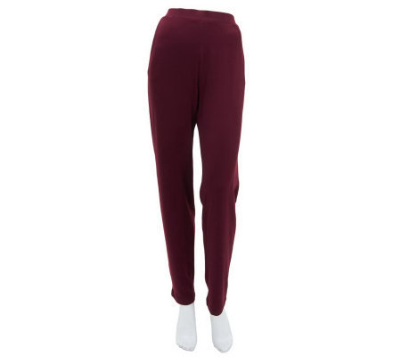 Susan Graver Heavy Liquid Knit Slim Leg Pants