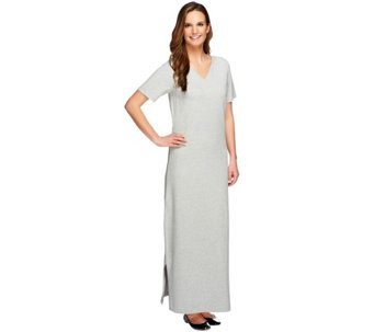 Denim & Co. Essentials Petite Short Sleeve Maxi Dress - A251639