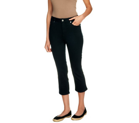 Isaac Mizrahi Live! Regular Icon Grace Crop Jeans