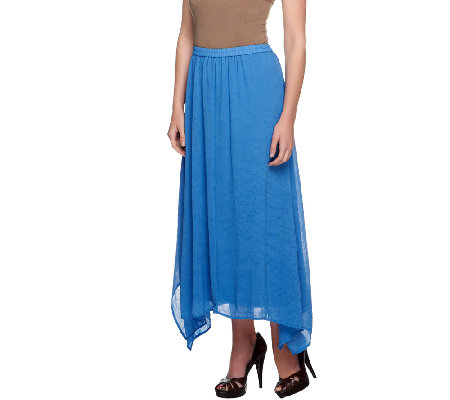 Linea By Louis Dell'Olio Pull-on Asymmetric Skirt