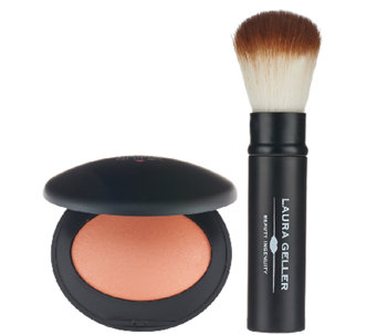Laura Geller Baked Elements Luminous Matte Blush with Brush - A262739