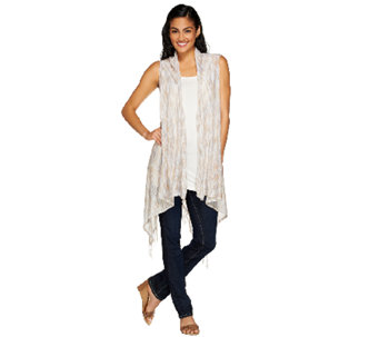 Tashon Everyday Knit Fringe Vest - A264039