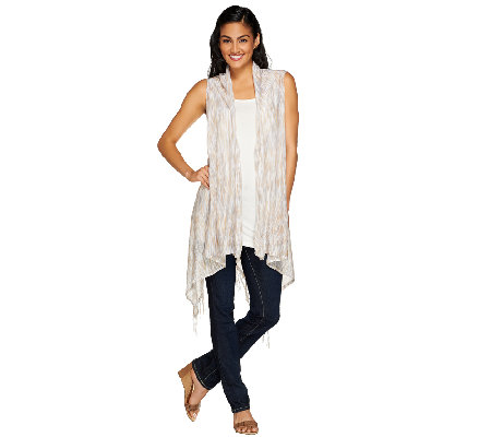 Tashon Everyday Knit Fringe Vest