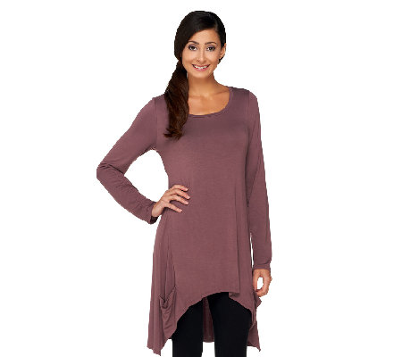 """As Is"" LOGO by Lori Goldstein Petite Hi-Low Hem Tunic"