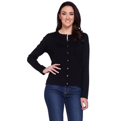 Isaac Mizrahi Live! Essentials Long Sleeve Cardigan