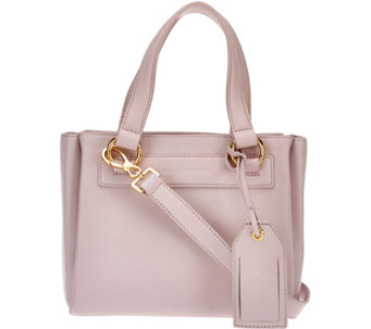 Isaac Mizrahi Live! Nolita Lamb Leather Top Handle Satchel Handbag - A274039