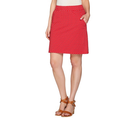 Quacker Factory Polka Dot French Terry Skort