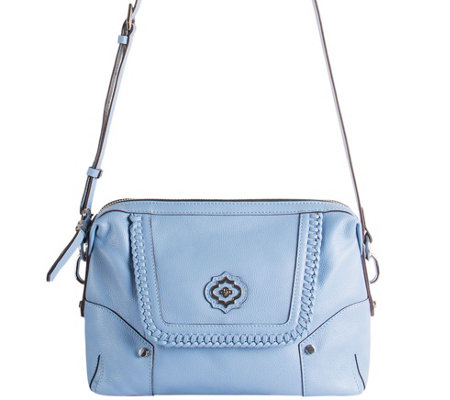 orYANY Pebble Leather Crossbody w/ Whipstitch Detail - Lacy