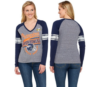 NFL Super Bowl 50 Champions Denver Broncos Women's Long Sleeve T-Shirt - A279839