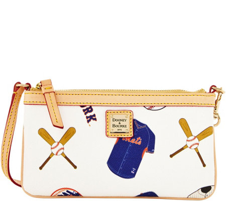 Dooney & Bourke MLB Mets Large Slim Wristlet