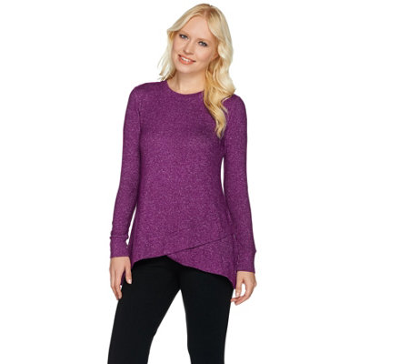 Cuddl Duds Sweater Knit Lounge Tulip Hem Tunic