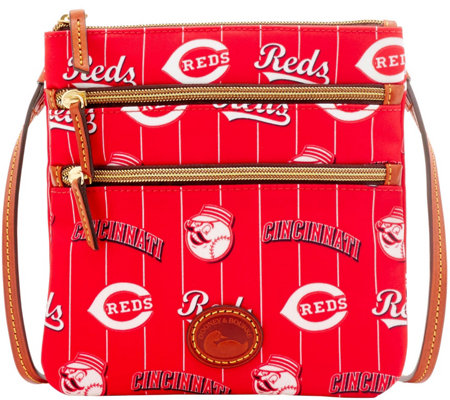 Dooney & Bourke MLB Nylon Reds Triple Zip Crossbody