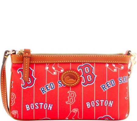 Dooney & Bourke MLB Nylon Red Sox Large Slim Wristlet