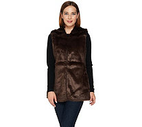 C. Wonder Faux Fur Vest with Printed Lining - A282639
