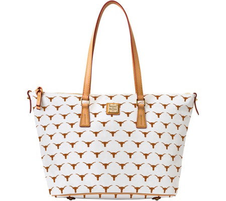 Dooney & Bourke NCAA University of Texas Zip Top Shopper