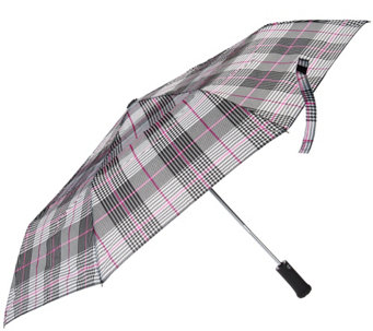 Tashon Printed Umbrella with Flashlight Handle - A283639