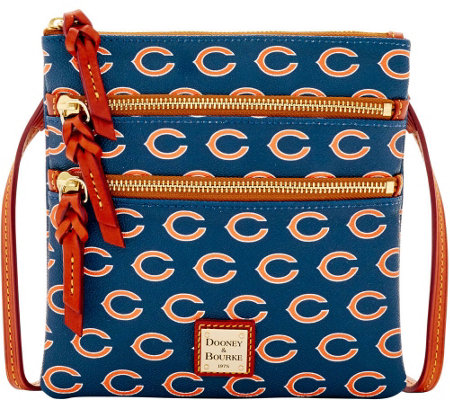 Dooney & Bourke NFL Bears Triple Zip Crossbody