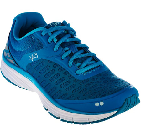 Ryka Lace-Up Running Sneakers - Indigo
