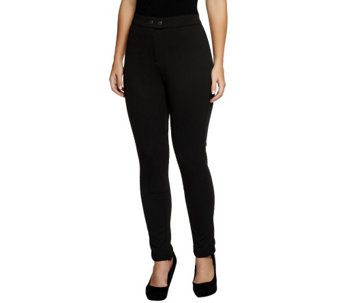 """As Is"" Status by Star Jones Leggings with Patch Detail - A287439"