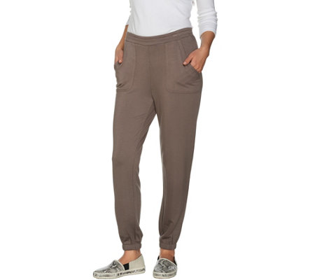 Lisa Rinna Collection Petite Pull-On Pants with Pockets