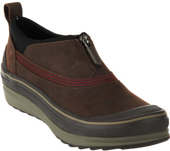"""As Is"" Clarks Outdoor Waterproof Leather Booties - Muckers Ruck - A289939"