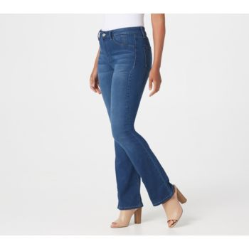Hot in Hollywood Regular Silky Denim Boot Cut Pull-On Jeans