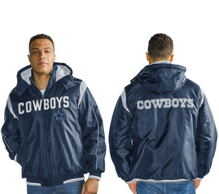 NFL Dallas Polyfil Detachable Hood Jacket