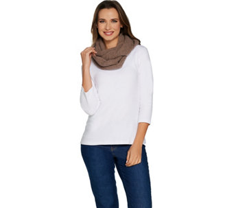 Isaac Mizrahi Live! 2-Ply Cashmere Cable Knit Infinity Scarf - A297339