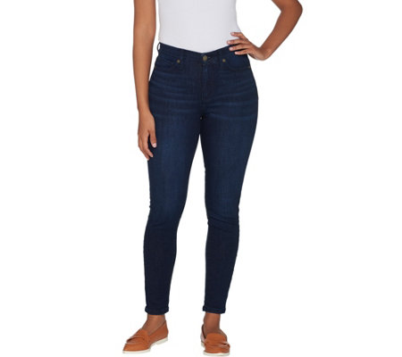 Isaac Mizrahi Live! Regular TRUE DENIM 5-Pocket Ankle Jeans