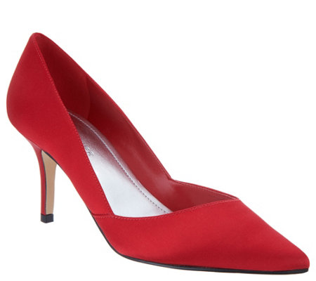 """As Is"" Marc Fisher Suede or Satin Pumps- Tuscany"