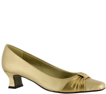 Easy Street Pleated Overlay Pumps - Waive