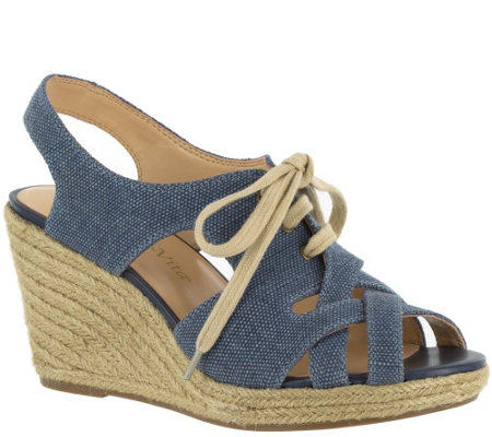 Bella Vita Lace-up Espadrille Wedge Sandals - Gracia