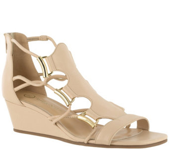 Bella Vita Leather Caged Wedge Sandals - Isla - A339139