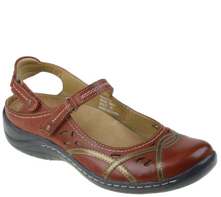 Earth Leather Mary Janes - Pagoda