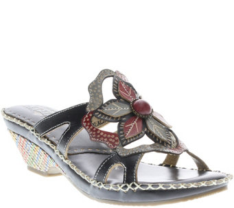 Spring Step L'Artiste Leather Slide Sandals - Enah - A339639