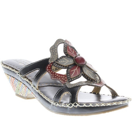 Spring Step L'Artiste Leather Slide Sandals - Enah