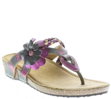 Spring Step L'Artiste Leather Slide Sandals - Chunali