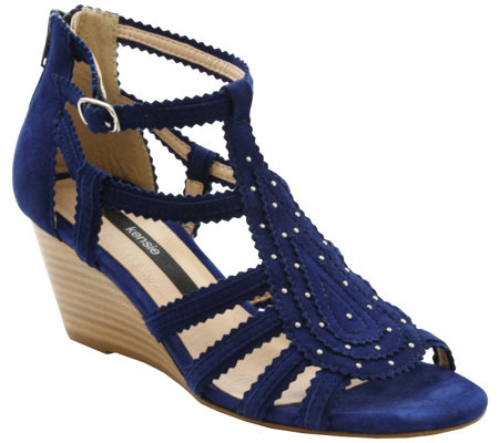 Kensie Open-Toe Wedge Sandals - Sisha