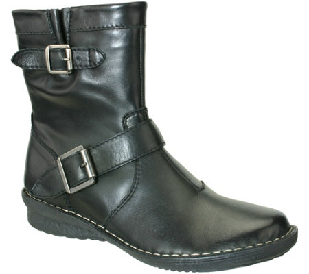 Napa Flex by David Tate Leather Mid-Calf Boots- Dea