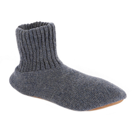 MUK LUKS Slipper Sox Men's Ragg Wool