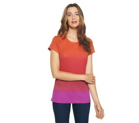 Isaac Mizrahi Live! Dip Dye Scoop Neck Knit Tunic