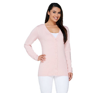 Linea by Louis Dell'Olio Whisper Knit V-Neck Cardigan - A233940