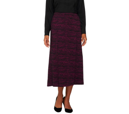 Linea by Louis Dell'Olio Regular Marled Knit Maxi Skirt