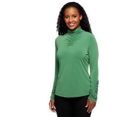 """As Is"" Susan Graver Liquid Knit Long Sleeve Turtleneck"