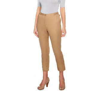 Linea by Louis Dell'Olio Cotton Sateen Ankle Pants - A254640