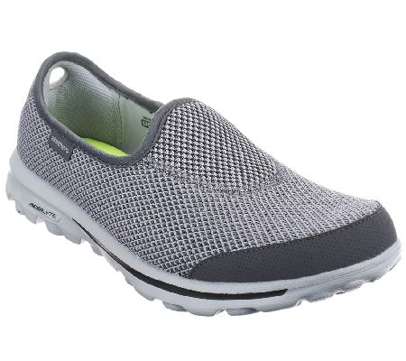 Skechers GOwalk Slip-on Sneakers w/ Memory Foam Fit - Rival — QVC.com